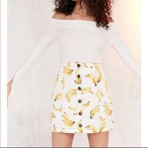 Urban Outfitters Banana Skirt